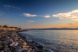 pôr do sol em Istambul foto