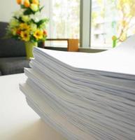 pilha de documentos foto