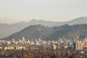 colina de san cristobal, santiago chile foto