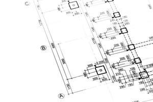 planos de arquitetura ou engenharia foto