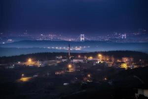 Skyline de Istambul à noite foto