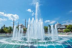bosque azul, sultanahmet em istambul turquia foto