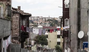 distrito pobre fatih em istambul, turquia