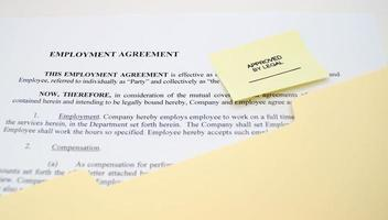 contrato de trabalho foto
