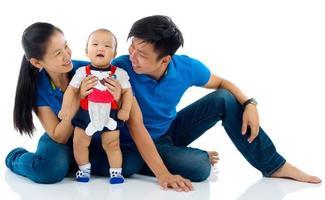 família asiática foto
