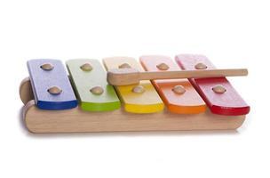 instrumento musical de xilofone de criança foto