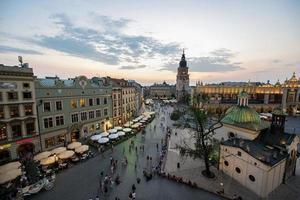 praça do mercado de cracóvia, polônia foto
