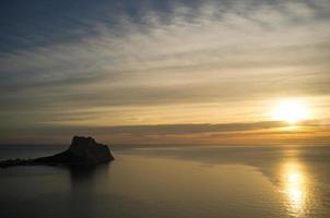 costa blanca nascer do sol foto