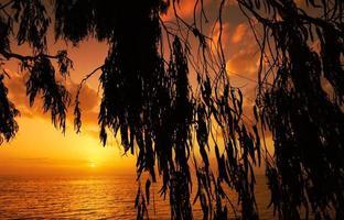 pôr do sol mediterrâneo foto