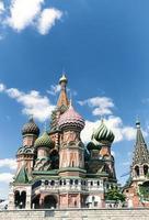 mais famosa catedral russa na praça vermelha foto
