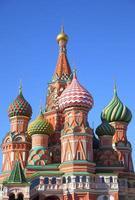 st. catedral de manjericão em Moscou foto