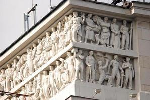 detalhe do edifício soviético, moscou foto