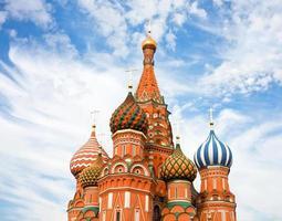 Catedral de Vasily o abençoado na Praça Vermelha de Moscou na Rússia foto