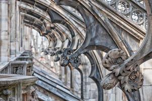 catedral de milão telhado arcos detalhe foto