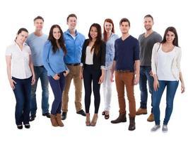 grupo de diversas pessoas foto
