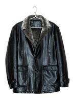 jaqueta de couro dos homens foto