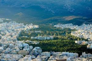 vista da capital da grécia foto