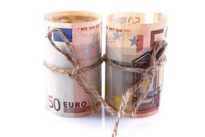 dinheiro em euros foto