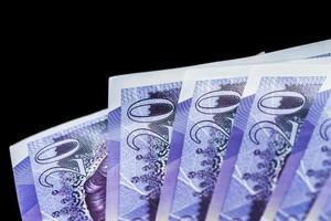 £ 20 notas libras esterlinas foto