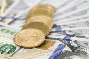 moedas de dinheiro foto