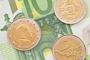 dinheiro europeu.
