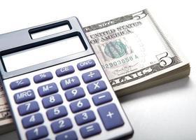 contabilidade no dinheiro foto