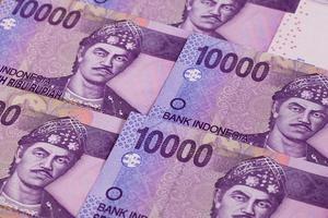 notas de rúpia diferentes da Indonésia foto