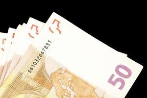 muitas notas de 50 euros foto