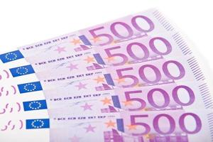 Notas de 500 euros foto