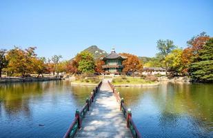 palácio gyeongbokgung em seul, coreia foto