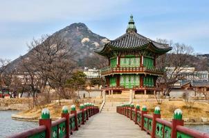 palácio gyeongbokgung em seul foto