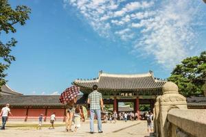 palácio changdeokgung seul coreano foto