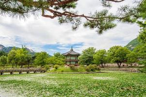 Palácio Gyeongbokgung na Coréia do Sul. foto