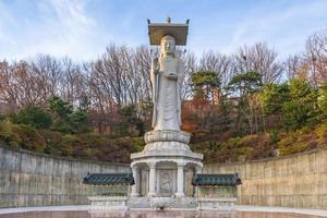 templo de bongeunsa na cidade de seul, coreia do sul. foto