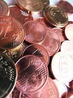 moedas de dinheiro - euro e cent