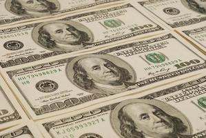 fundo de dinheiro de nota de banco do dólar foto