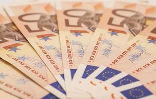 notas de dinheiro em euros. 50 euro foto