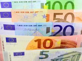 denominações do euro foto