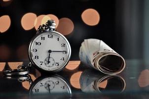 tempo e dinheiro, conceito do negócio