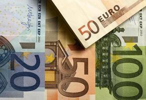 moeda européia de dinheiro barato foto