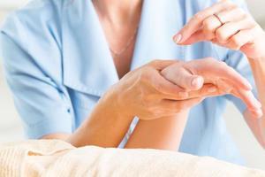 acupuntura com agulha foto