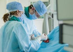 na sala de cirurgia foto