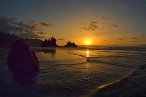 pôr do sol fundo bonito foto