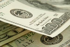bancos de dólar nota dinheiro plano de fundo foto