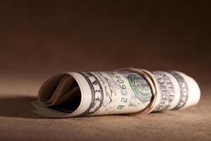 rolo de dinheiro americano (série financeira) foto