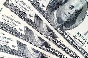 notas de dólar dos eua foto