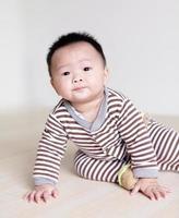 retrato de bebê fofo foto