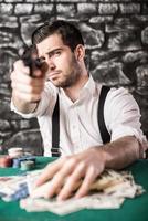 gangster. pôquer. foto