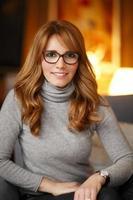retrato de mulher de negócios maduros foto