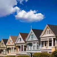 casas vitorianas de são francisco em alamo square california foto